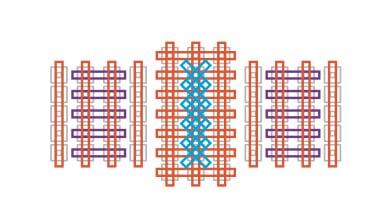 Sensore con punti a doppia croce
