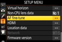Automated AF Fine Tune di Nikon
