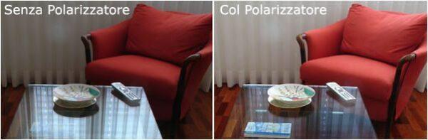 Eliminiamo i riflessi con il filtro polarizzatore