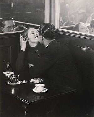 Brassai. Lovers in a small cafe