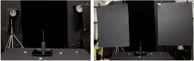 Esempio di Set per fotografare il fumo