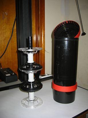 Interno di una tank con spirale a tripla pellicola