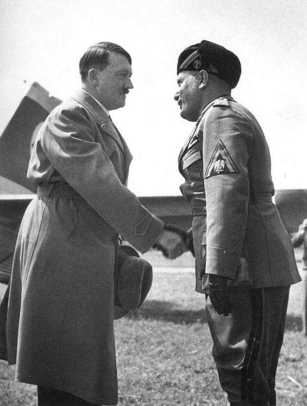 Alfred Eisenstaedt: Mussolini e Hitler