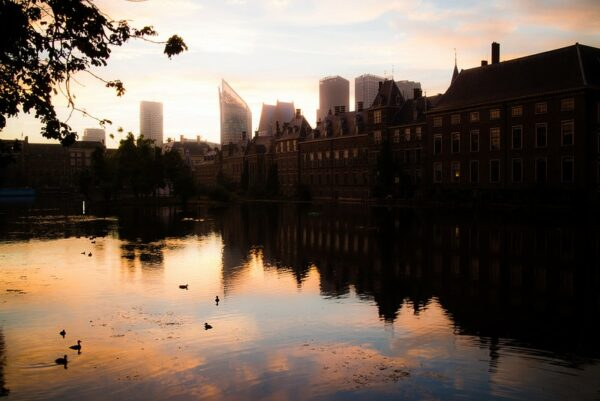 fotografare la città all'alba