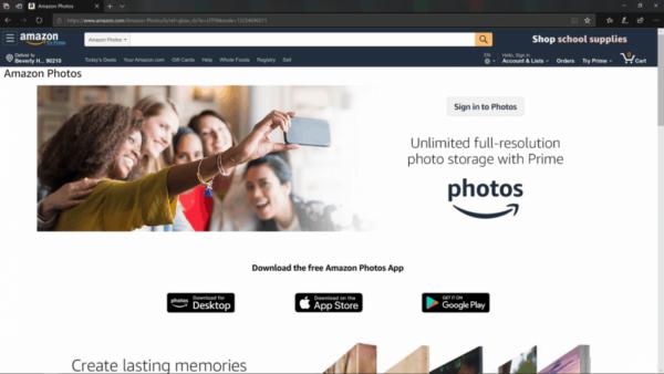 servizi di archiviazione di foto online