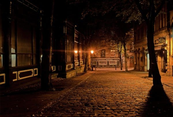 city, night, dark