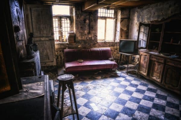 living room, space, lost places