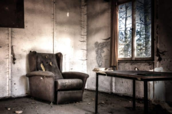 lost places, room, chair