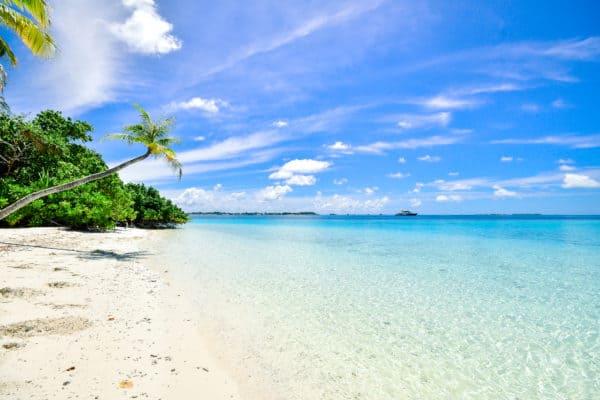Beach calm clouds idyllic
