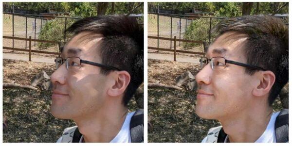 IA rimuove automaticamente le ombre dai ritratti