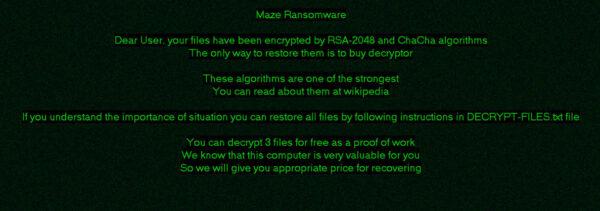 maze - attacco hacker a canon
