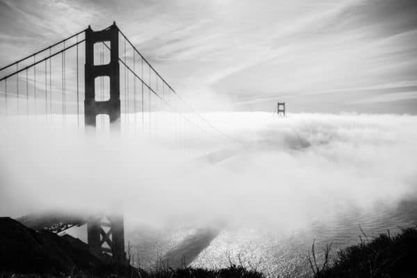 The Golden Gate in Black and White