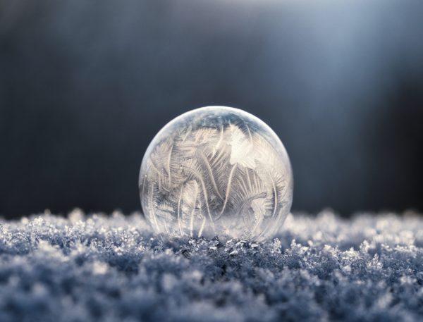 fotografare le bolle congelate